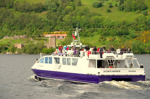 Sailing Loch Ness in style on the Jacobite Warrior